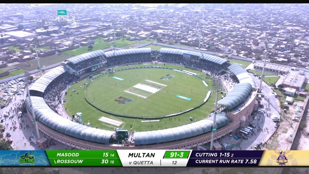 Bueatifull crowd and grownd congratulations to multan sultan
